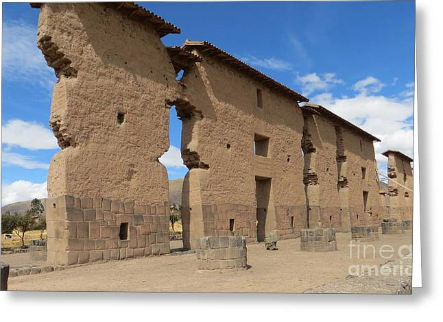 Temple Of Wiracocha Greeting Card