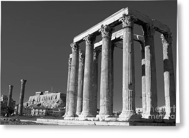 Temple Of Zeus Greeting Card by Gabriela Insuratelu