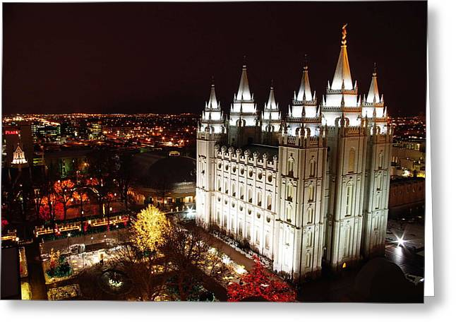 Temple Square Greeting Card