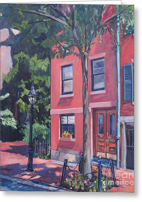 Temple Street Beacon Hill Greeting Card