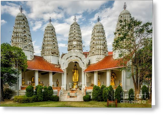 Temple Towers Greeting Card by Adrian Evans
