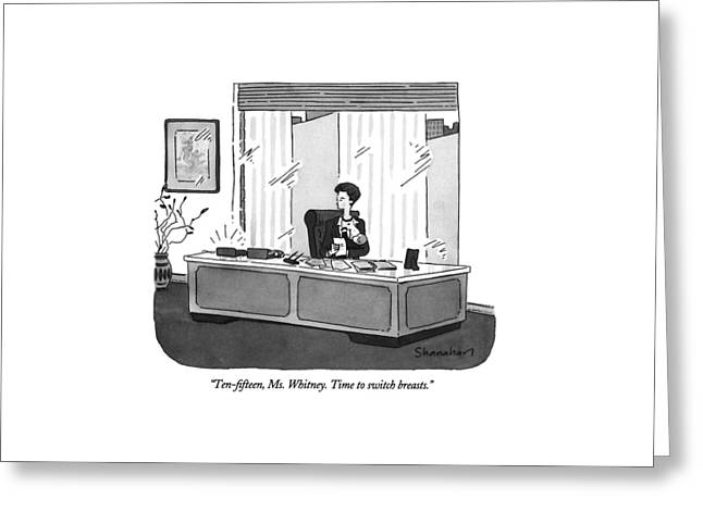 Ten-fifteen Greeting Card by Danny Shanahan