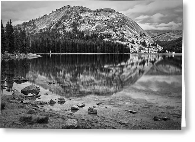 Tenaya Lake In Yosemite In Bw Greeting Card