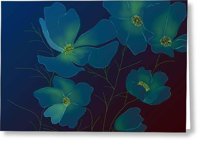 Greeting Card featuring the digital art Tender Cosmos by Latha Gokuldas Panicker