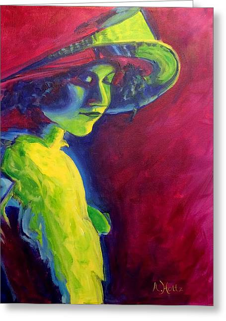 Greeting Card featuring the painting Tender Moment by Arlene Holtz