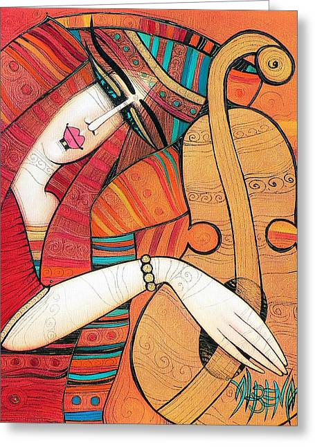 Tenderly Greeting Card by Albena Vatcheva
