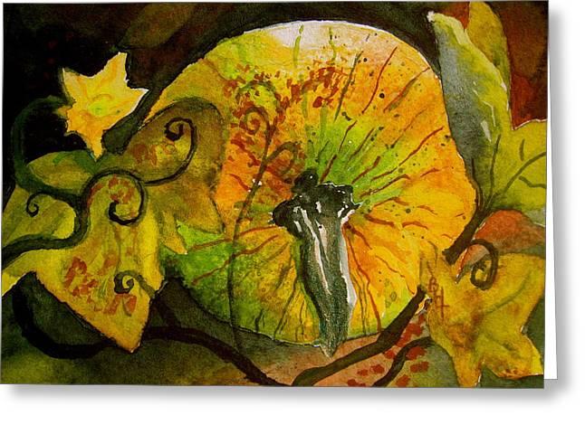 Tendrils Greeting Card by Beverley Harper Tinsley
