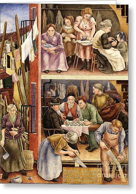 Tenement Greeting Card by Pg Reproductions