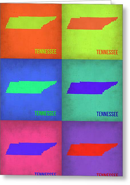 Tennessee Pop Art Map 1 Greeting Card