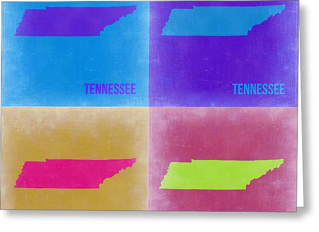 Tennessee Pop Art Map 2 Greeting Card