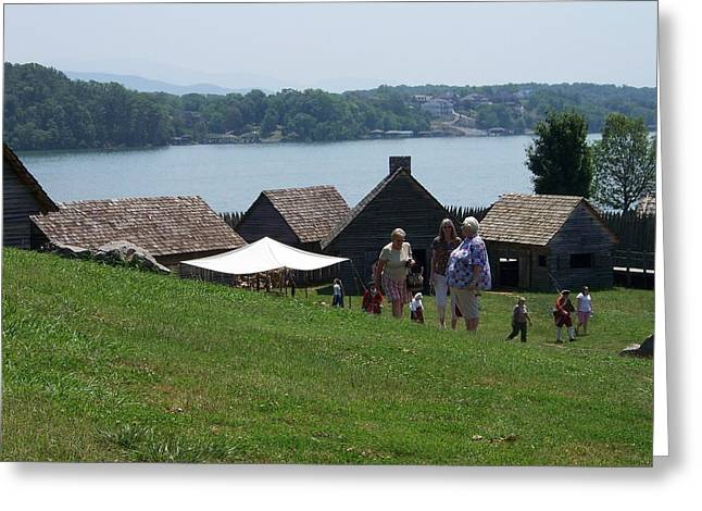 Tennessee River Behind Fort Loudon Greeting Card by Regina McLeroy