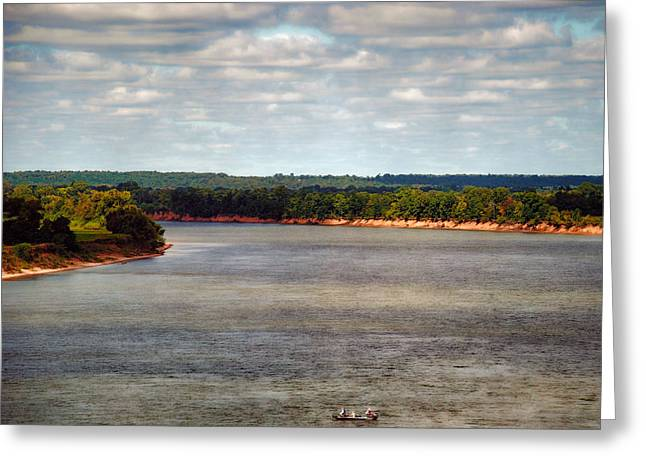 Tennessee River Morning - Water Scene Greeting Card by Jai Johnson