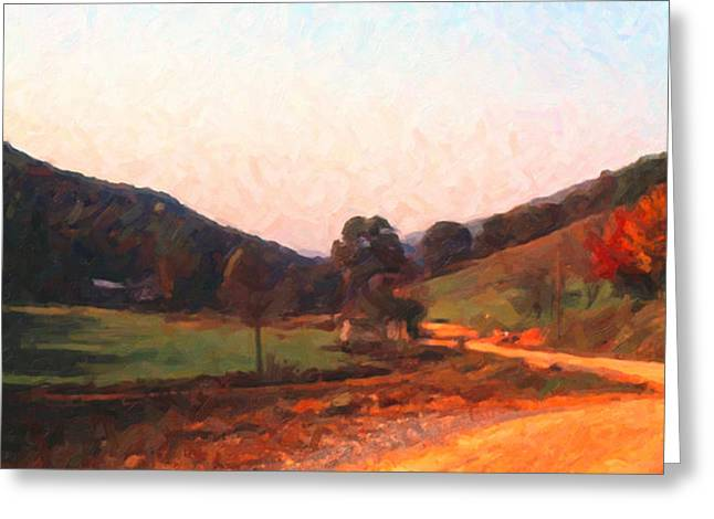 Tennessee Road Greeting Card by Spyder Webb