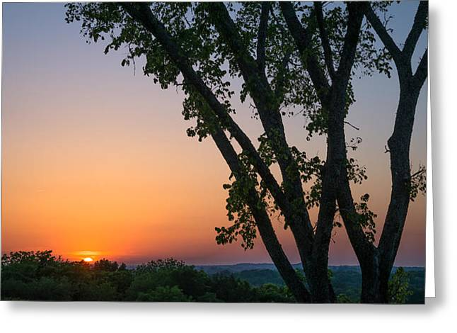 Tennessee Sun Greeting Card by Clay Townsend