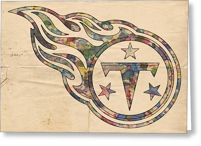 Tennessee Titans Poster Art Greeting Card by Florian Rodarte