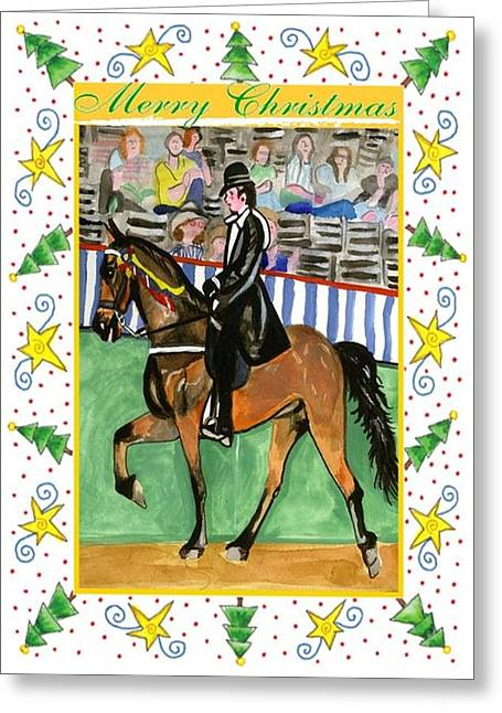 Tennessee Walking Horse Blank Christmas Card Greeting Card by Olde Time  Mercantile