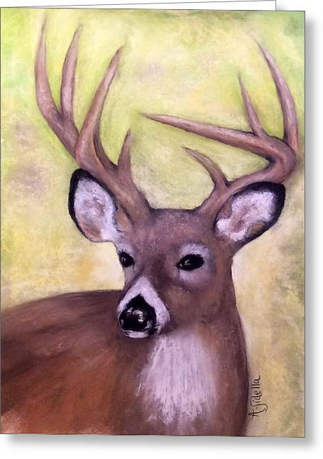 Tennessee Wild Life - Buck Greeting Card by Annamarie Sidella-Felts