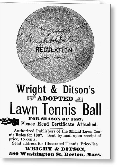 Tennis Ball, 1887 Greeting Card
