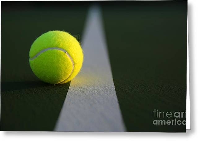 Tennis Ball At Last Light Greeting Card