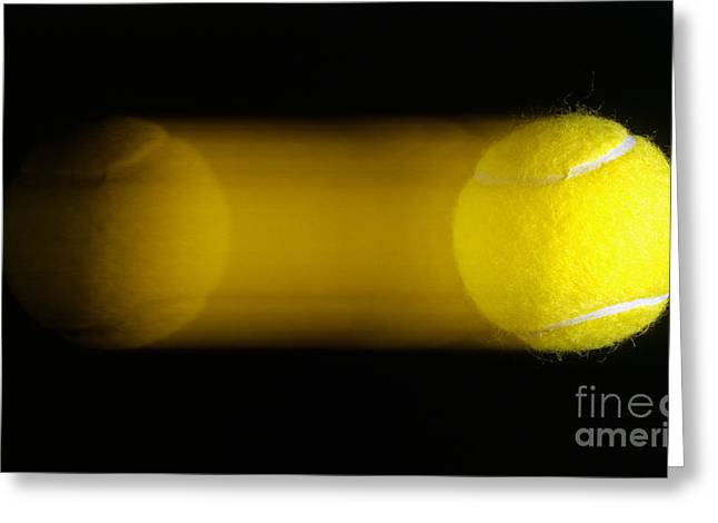 Tennis Ball In Motion Greeting Card