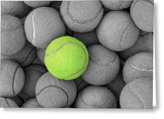 Tennis Balls Background Texture Greeting Card
