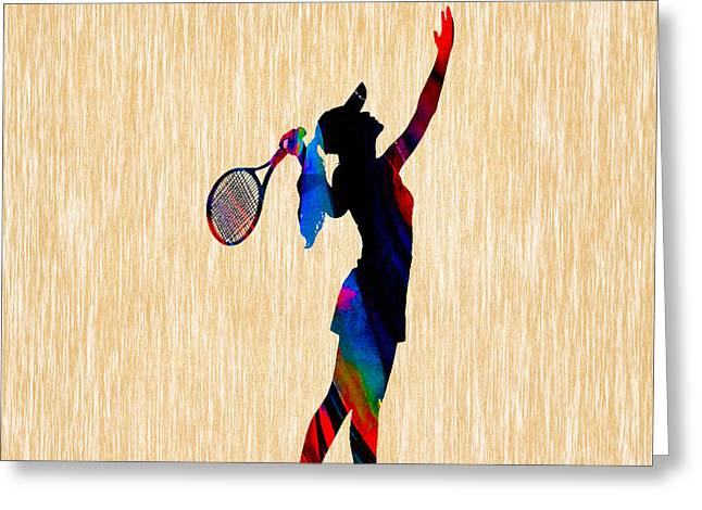 Tennis Game Greeting Card by Marvin Blaine