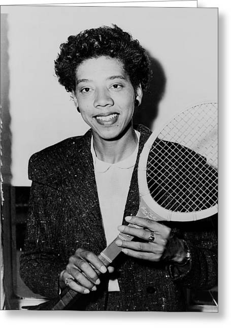 Tennis Great Althea Gibson 1956 Greeting Card