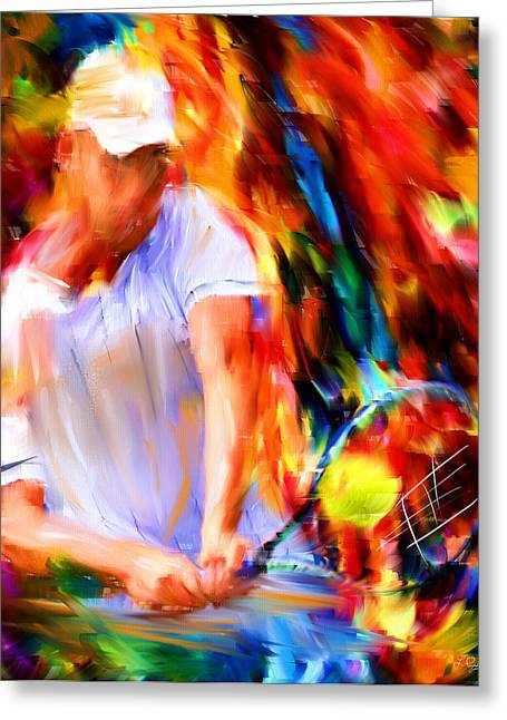 Tennis II Greeting Card by Lourry Legarde