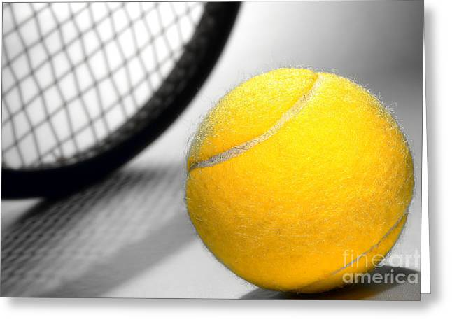Tennis Club Greeting Cards - Tennis Greeting Card by Olivier Le Queinec