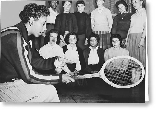 Tennis Star Althea Gibson Greeting Card by Ed Ford