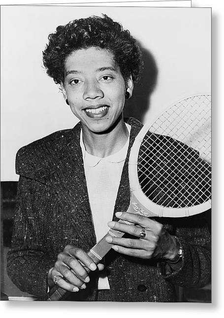 Tennis Star Althea Gibson Greeting Card by Fred Palumbo