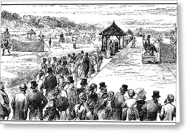 Tennis Wimbledon, 1877 Greeting Card by Granger