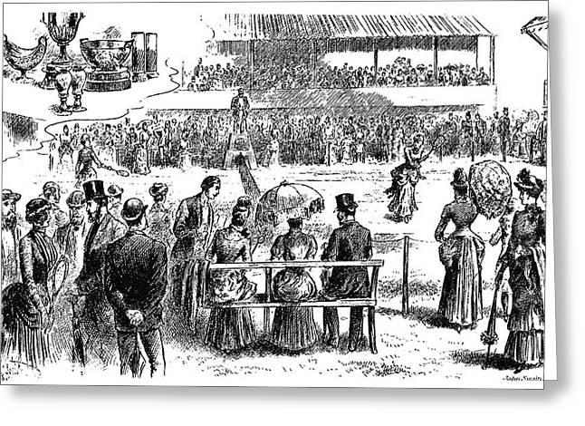 Tennis Wimbledon, 1884 Greeting Card