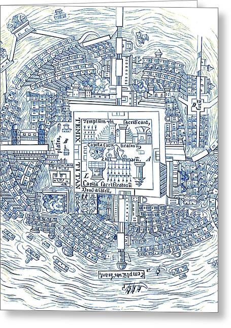 Tenochtitlan, Aztec City-state Greeting Card