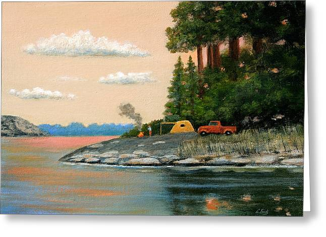 Tent Camper Greeting Card by Gordon Beck