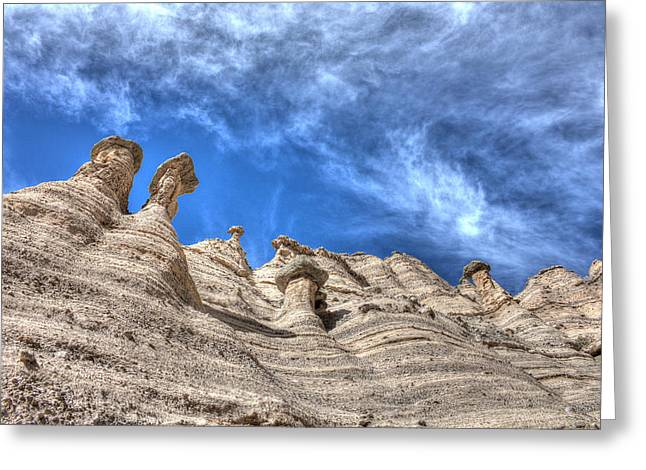 Tent Rocks No. 1 Greeting Card by Dave Garner