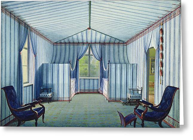 Tent Room, After 1830 Pen & Ink And Wc On Paper Greeting Card