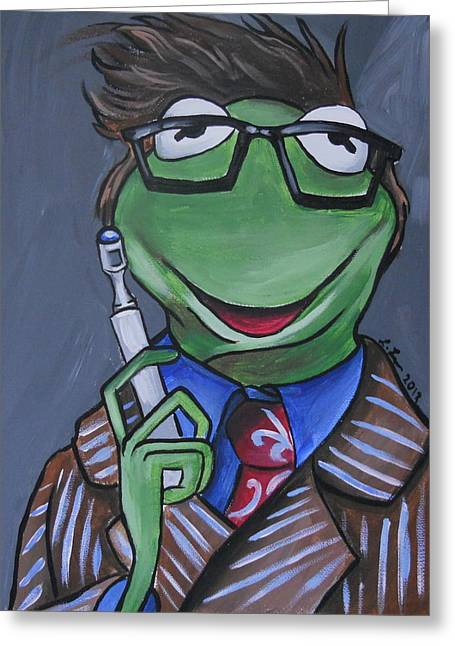 Kermit the frog greeting cards fine art america tenth doctor kermit the frog greeting card m4hsunfo