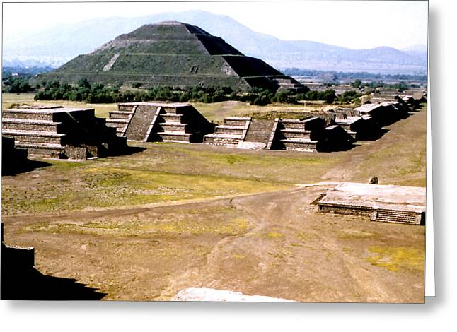 Teotihuacan - Pyramid Of The Sun Greeting Card