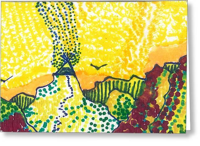 Tepee Mountain Greeting Card