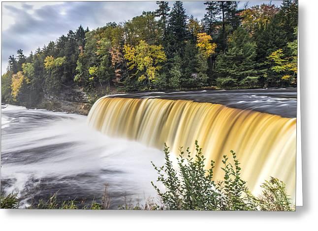Tahquamenon Falls In Autumn  Greeting Card
