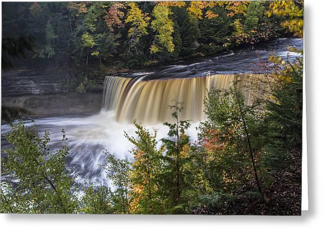 Tahquamenon Falls In Upper Peninsula Of Michigan Greeting Card