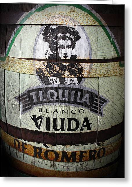 Tequila Advert Greeting Card by Norman Pogson