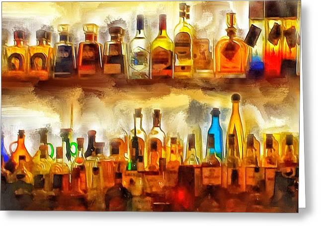 Tequila Bar At Aquila Restayrant Greeting Card