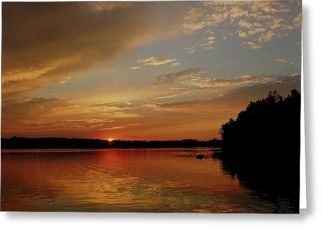 Sunrise...wisconsin Greeting Card by Tom Druin