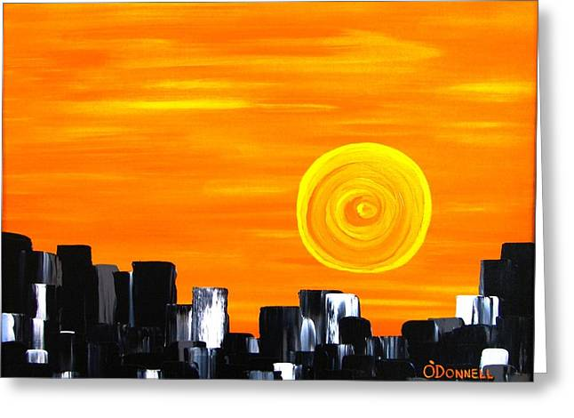 Tequila Sunset Greeting Card