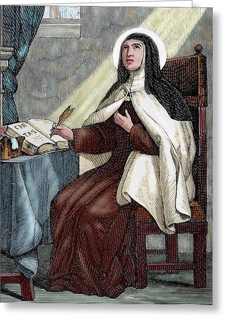 Teresa Of Avila (1515-1582 Greeting Card