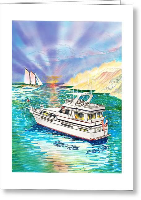 Terifico At Anchor Greeting Card by Jack Pumphrey