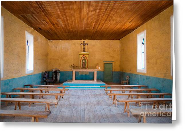 Terlingua Church Greeting Card by Sonja Quintero