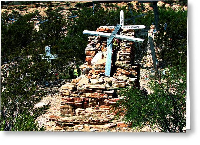 Terlingua Cross Greeting Card by Linda Cox